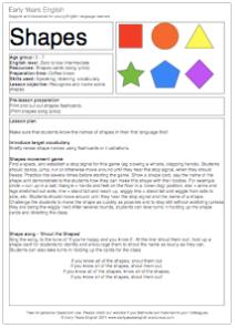 shapes lesson plan