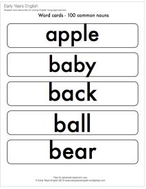 100 common nouns