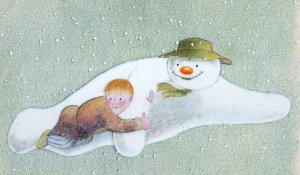 Who wouldn't want to go flying with a snowman?