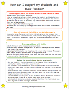 Ways to support your students and their families - click to download