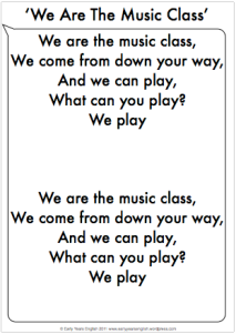 music class fill in